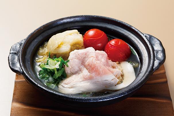 あっさり漬白菜とラブレ糠漬白菜の豚肉常夜鍋